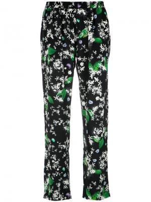 Printed trousers Isolda. Цвет: чёрный