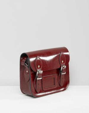Leather Satchel Company Маленькая сумка‑сэтчел. Цвет: красный