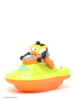 Пингвиненок на катере Hap-P-Kid. Цвет: оранжевый, желтый, зеленый, черный