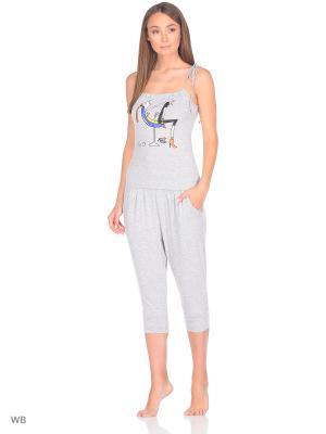Пижама erteks. Цвет: серый