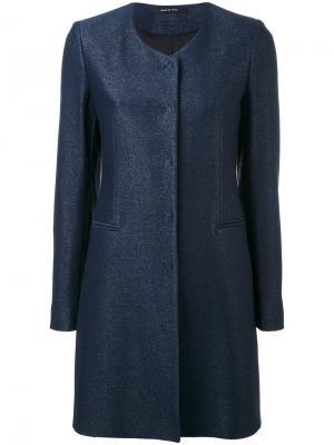 Пальто Demi Tagliatore. Цвет: синий