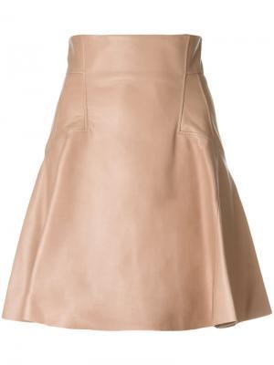 Пышная юбка с панельным дизайном Alexander McQueen. Цвет: розовый и фиолетовый