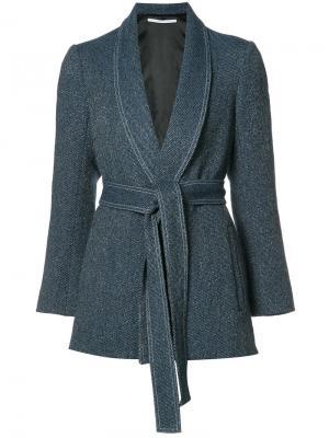 Куртка с поясом Rosetta Getty. Цвет: синий