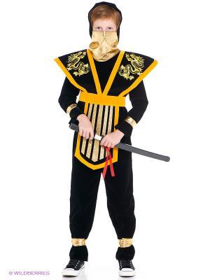 Карнавальный костюм Мастер Ниндзя Батик. Цвет: желтый, черный