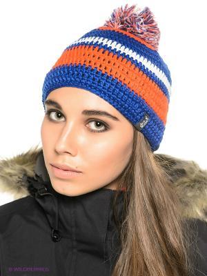 Шапка CROCHET CAP Jack Wolfskin. Цвет: оранжевый, синий