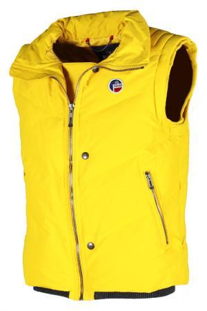 Пуховый жилет Fusalp. Цвет: желтый