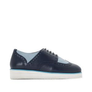 Ботинки-дерби двухцветные, подходя для широкой стопы, размеры 38-45 CASTALUNA. Цвет: бежевый,синий