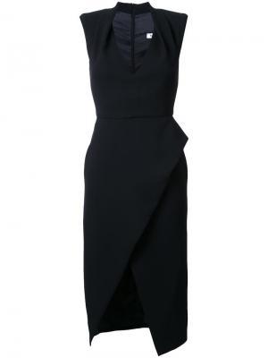 Приталенное платье Tulip Bianca Spender. Цвет: чёрный