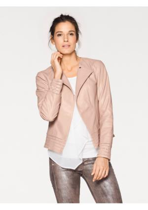 Кожаная куртка PATRIZIA DINI by Heine. Цвет: розовый