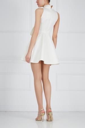 Шелковое платье Ester Abner. Цвет: молочный