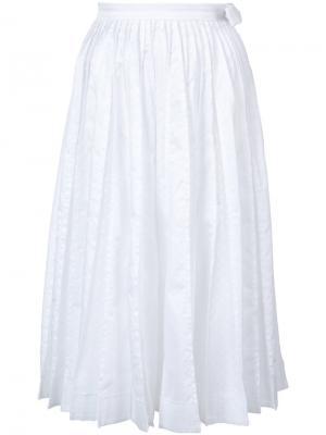 Плиссированная юбка с эффектом потертости Jonathan Cohen. Цвет: белый