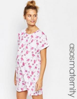 ASOS Maternity Ночная рубашка для беременных. Цвет: мульти