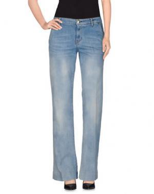 Джинсовые брюки NÖE. Цвет: синий