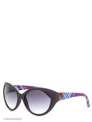 Солнцезащитные очки TOUCH. Цвет: сиреневый, темно-коричневый