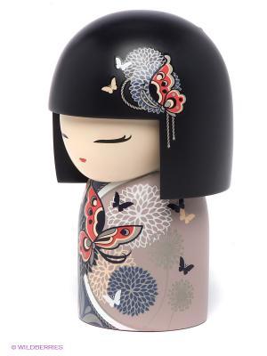 Кукла-талисман Аяна Kimmidoll. Цвет: черный, серо-коричневый