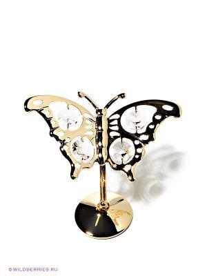 Фигурка Бабочка Юнион. Цвет: золотистый, прозрачный