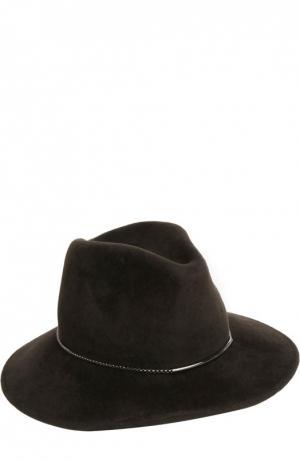 Шляпа Eugenia Kim. Цвет: темно-коричневый