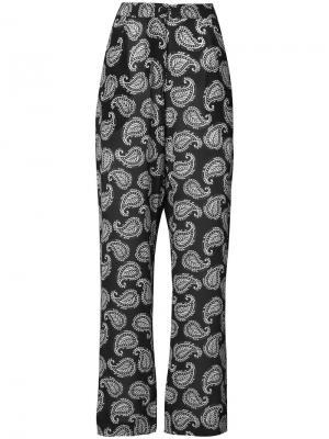 Брюки Jett с принтом пейсли Dodo Bar Or. Цвет: чёрный
