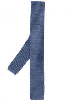 Трикотажный галстук Eleventy. Цвет: синий