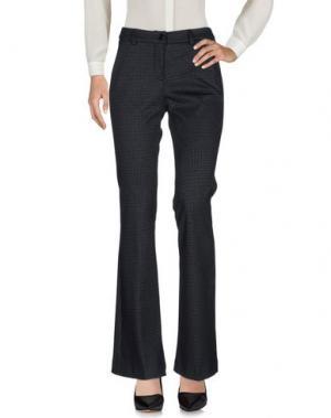 Повседневные брюки MIA SULIMAN. Цвет: темно-синий
