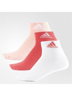 Носки взр. PER ANKLE T 3PP Adidas. Цвет: розовый, белый, персиковый
