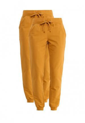 Комплект брюк 2 шт. oodji. Цвет: желтый