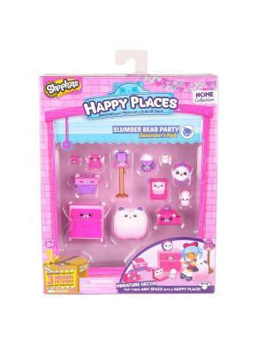 Игровой набоор для декора Happy Places Петкинс  Пижамная вечеринка с мишками Moose. Цвет: розовый