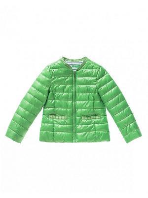 Куртка United Colors of Benetton. Цвет: светло-зеленый