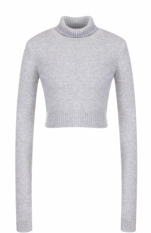 Укороченный шерстяной свитер с высоким воротником Faith Connexion. Цвет: серый