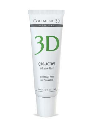 Флюид Q10 30 мл Medical Collagene 3D. Цвет: белый, салатовый