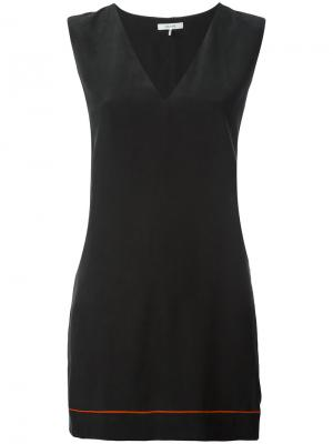Блузка шифт Ganni. Цвет: чёрный