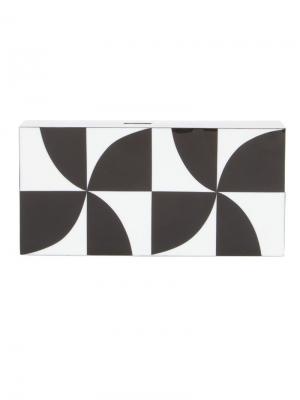 Полимерный прямоугольный клатч Serpui. Цвет: чёрный