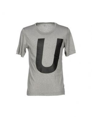 Футболка U CLOTHING. Цвет: серый