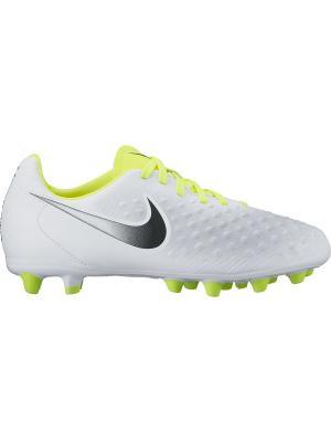 Бутсы JR MAGISTA OPUS II AG-PRO Nike. Цвет: белый