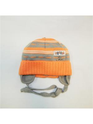 Шапка PUPILL. Цвет: серый, оранжевый