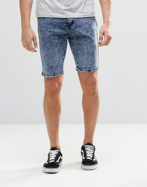 Systvm Синие мраморные джинсовые шорты. Цвет: синий