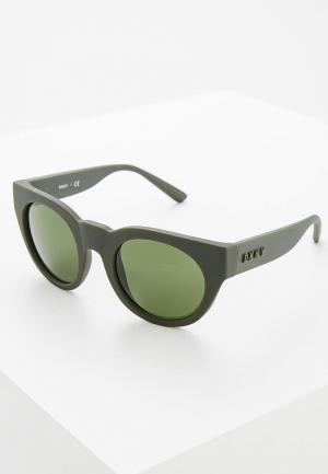 Очки солнцезащитные DKNY. Цвет: зеленый