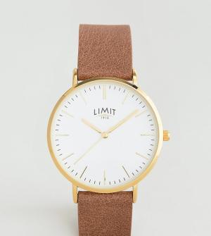 Limit Часы с коричневым кожаным ремешком эксклюзивно для ASOS. Цвет: коричневый