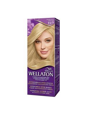 Крем-краска для волос стойкая 11/7 Золотой песок WELLATON. Цвет: фиолетовый