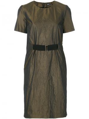 Платье с ремнем Jil Sander Navy. Цвет: зелёный