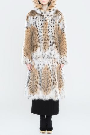 Шуба из меха рыси PT Quality Furs. Цвет: натуральный