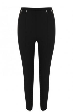 Укороченные однотонные брюки-скинни с завышенной талией Alexander Wang. Цвет: черный