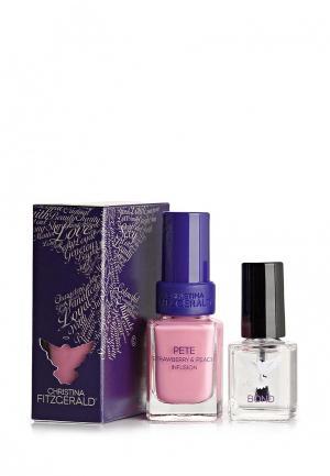 Набор лаков для ногтей Christina Fitzgerald. Цвет: розовый