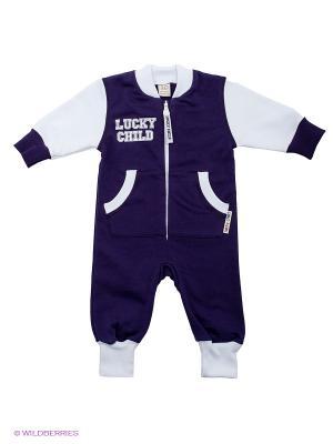 Комбинезон Lucky Child. Цвет: фиолетовый, белый