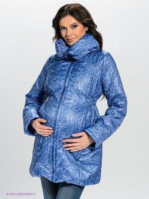 Куртка Mamita. Цвет: темно-синий, серо-голубой