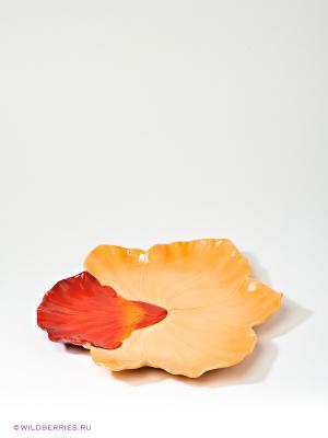 Десертная тарелка Орхидея Pavone. Цвет: оранжевый (осн.)