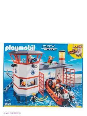 Береговая охрана станция с маяком Playmobil. Цвет: белый