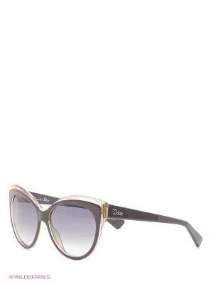Солнцезащитные очки CHRISTIAN DIOR. Цвет: черный, темно-коричневый