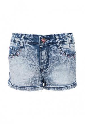 Шорты джинсовые Sela. Цвет: синий