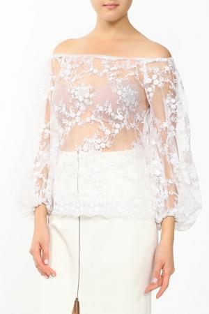 Блуза MSW ATELIER. Цвет: белый